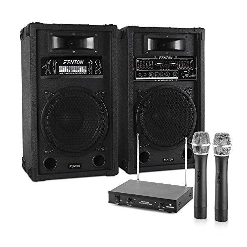 Karaoke-Anlage STAR-10 PA Boxen Funk Mikrofon Set