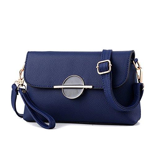 Damen Mini Messenger Tasche Umhängetasche Darkblue