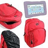 DURAGADGET Mochila para Niños para Cefatronic Tablet Clan 1/2   Tortugas Ninjas Edición Especial + Funda Impermeable - Roja