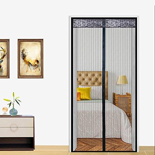 Magnetische Vorhang Moskito 100x220 cm,Balkon Schlafzimmer Moskito Vorhang Magnetischer Vorhang,Kinder und Haustiere der automatischen Schließung der Bildschirm Fenster Netze Fliegengitter Tür schwarz
