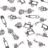 pandahall Antik Silber Tibetan Style Anhänger Legierung Werkzeug Sets Breitschwert Schere Schlüssel SägeAX Schaufel