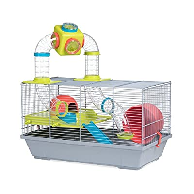 Voltrega Sancha Hamster Cage with Tubes, 50½ x 28 x 32 cm, White/Green from Voltrega