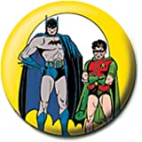 Distintivo del Pulsante Genuino di DC Comics Retro Batman e Robin