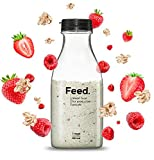 Feed. - Bouteille Fruits Rouges - Repas complet, pratique à emporter partout - 100% Vegan - Sans Gluten - Sans lactose - Sans OGM - 150g