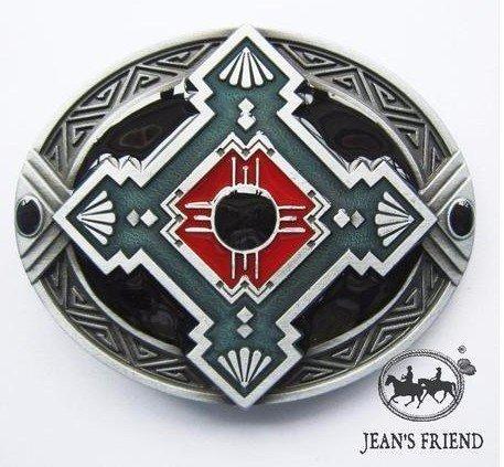 western new Buckle belt cowboy gurtelschnallen Native American türkis rot weiß (Gürtelschnallen Native American)
