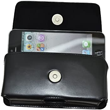 MTT Original Quer-Tasche mit Gürtelclip und Sicherheitsschlaufe für Apple iPhone 5 / 5S /5C schwarz