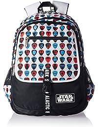 Star Wars Nylon Black And White School Bag (Age Group :8 Yrs +)