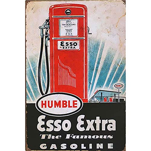 FlowerBeads Rustikale Metallschilder Retro Esso-Tiger-Dekoration, Blechschild, amerikanischer Stil, Vintage, Auto, Garage, Poster, 20 x 30 cm 12x8inch a