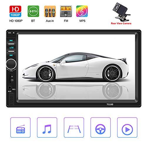 Mengen88 Auto DVD Player, 7 Zoll 2 DIN Autoradio Stereo Touchscreen Auto Radio Video MP5 Player Unterstützung Bluetooth TF SD MMC USB FM Mit Mini Backup Kamera Kamera-cd