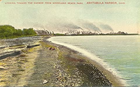 POSTER Looking Towards the Harbor From Woodland Beach Park Ashtabula Ohio collection postcards id... Beaches Sand Parks Miami Wall Art Print A3 replica