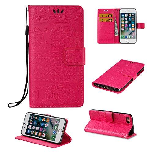 Coque iPhone 7, Housse iPhone 7, Lifetrut [Relief Printing] Premium PU Leather Portefeuille Flip Folio Case Cover pour iPhone 7 [Marine] E204-Se leva