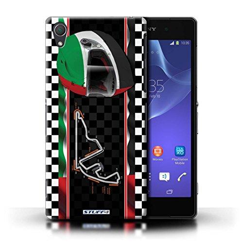 Kobalt® Imprimé Etui / Coque pour Sony Xperia Z2 / USA/Austin conception / Série F1 Piste Drapeau AbuDhabi