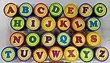 26 tlg. Set Kinder-Stempel mit Stempelkissen - ABC Buchstaben Alphabet - selbstfärbend - Stempel hochwertig ! - Stempelkissen Kinder Lehrer Schule