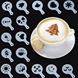 SYGA 16pcs Creative Nice Coffee Stencil Coffee Template Strew Spray Art stencils
