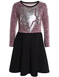 BEZLIT - Vestido - corte imperio - Básico - Cuello redondo - Manga Larga - para niña