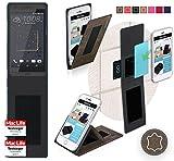 reboon Hülle für HTC Desire 630 Tasche Cover Case Bumper | Braun Wildleder | Testsieger