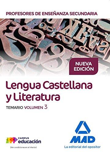 TEMARIO LENGUA Y LITERATURA