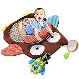 Homeofying Spielmatte mit niedlichem Cartoon-Eule, für Babys und Kleinkinder, Krabbelzeit