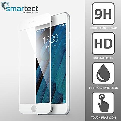 [Full Screen | Weiß] Panzerglas Folie für iPhone 7 / 7s Plus • Full-Screen Panzerfolie mit 9H Härte • Blasenfreie Montage der Full-Cover Folie • Displayschutzfolie bedeckt gesamtes Display Edge to Edge