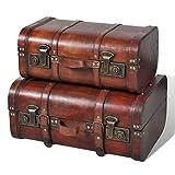 Set Bauli vintage in legno 2pz