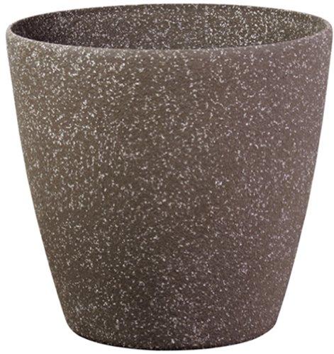 Pietra Luce Serie SL 35 centimetri Fusioni pietra rotonda Planter - Mocha Sandstone (confezione da 6)