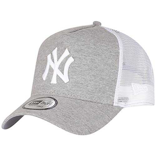 New Era Jersey Essential New York Yankees Gray/Optic White Cap 9Forty Trucker Jacket, Grey, FR – One size (Manufacturer Size: OSFA)