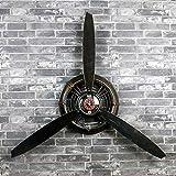 LOFT Retro industriellen Stil schwarz Dekoration Wand Uhr Flugzeug Propeller Eisen wandbehang wanddekorationen Anhänger Wand Dekoration L * W * H 67 * 7 * 53 cm (Farbe : -, Größe : -)
