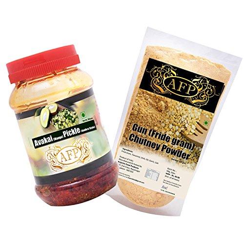 Afp Avakai Mango Pickle - 200g + Afp Fried Gram Chutney Powder - 200g