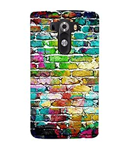 Bricks Textute 3D Hard Polycarbonate Designer Back Case Cover for LG G3 :: LG G3 D855