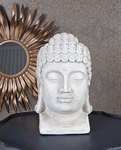 Unbekannt Buddhakopf China Skulptur Büste Buddha Kopf Gartenfigur Feng Shui Palazzo Exklusiv