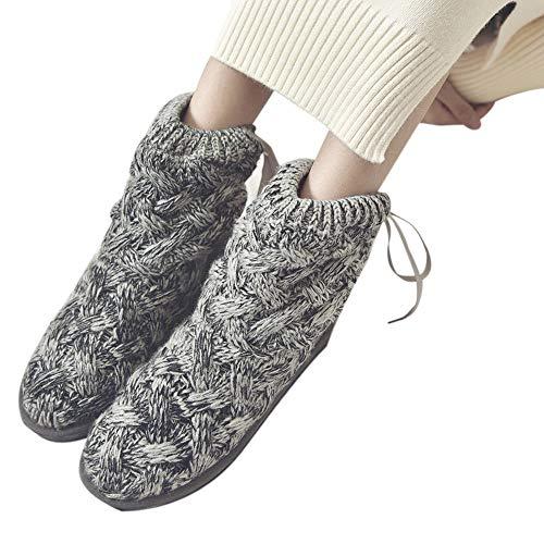MYMYG Frauen Boots Frauen Bow Wolle Hohe Röhre Schneeschuhe Warme Stiefel Schuhe Winter Schneeschuhe Schuhe Walkingschuhe Freizeitschuhe Baumwolle Winterschuhe