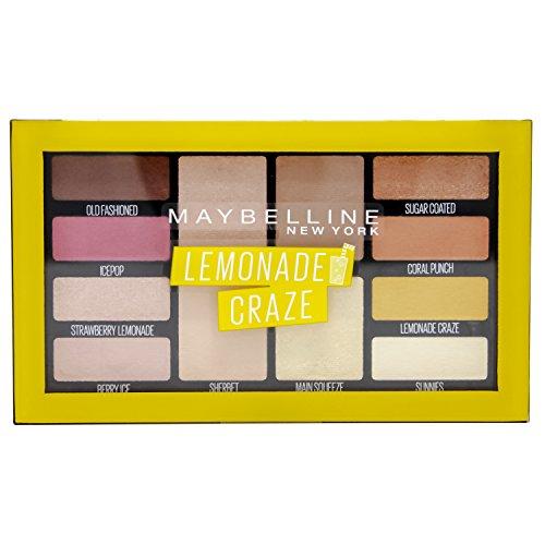 Maybelline New York Lemonade Bar Lidschatten-Palette in Nr. 01 Lemonade Craze, 12 g