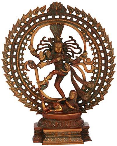Exotic India Nataraja, Amazing-Double-Chola, Taille : 11,4 x 40,6 x 48,3 cm
