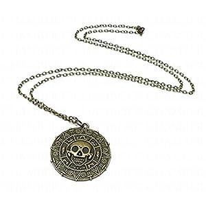 ChAmBer37Azteken-Münze,'Fluch der Karibik'-Anhänger, Halskette