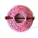 eeddoo Muffin BRUSTWARZENPIERCING Pink - Brustpiercing für Brustwarzen Nippel Nipple Intimpiercing - aus Edelstahl Silber - Schmuck für Damen & Herren/Frauen & Männer - 1,6mm x 32mm