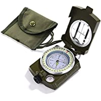 RRunzfon Waterproof Portable Military Compass With Pouch Lanyard Navigation Orientating For Hiking Camping Hunting Biking Outdoor Activities