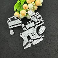 Momola Cartoon Cute Scrapbooking Die Cut, Cutting Die Template 3D Stereoscopic Sliver Stencils For DIY Scrapbooking Album Paper Card Art Craft Making Party Decor (E)