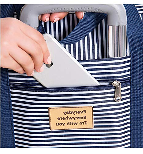Oxford Tuch Quilt Bag wasserdichte faltende reiseaufbewahrungstasche große kapazität Bequeme endverarbeitung aufbewahrungsbeutel Kaffee Punkt