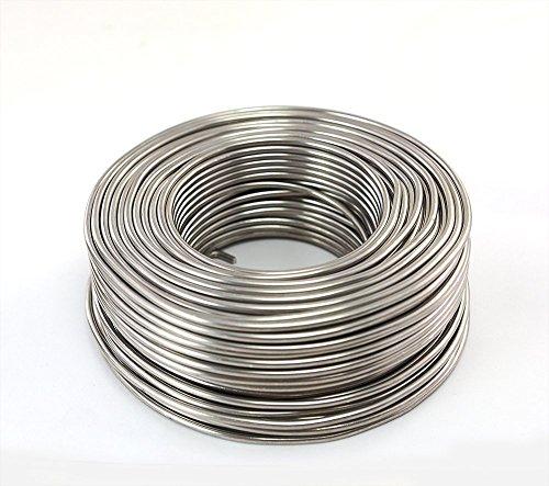 Aluminiumdraht Aludraht Basteldraht 3mm x 50m SILBER 1 KILOGRAMM