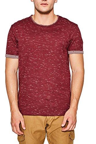 edc by ESPRIT Herren T-Shirt 087cc2k013 Rot (Bordeaux Red 600)