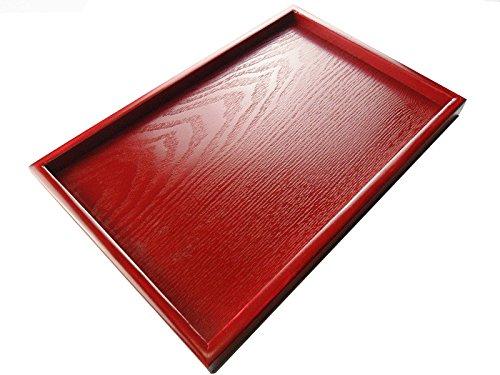 Super UD Rouge en bois Plateau de service décoratif Plateau Rectangulaire servir pour la nourriture Café ou de thé