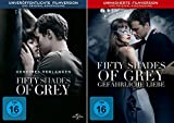 Fifty Shades of Grey - 1 Geheimes Verlangen + 2 Gef�hrliche Liebe (Unmaskierte Filmversion) im Set - Deutsche Originalware  medium image