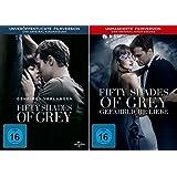 Fifty Shades of Grey - 1 Geheimes Verlangen + 2 Gefährliche Liebe (Unmaskierte Filmversion) im Set - Deutsche Originalware