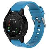 peibo SW329Super cómodo Silicagel correa de banda de instalación rápida de repuesto para Garmin Fenix 5GPS reloj, azul celeste