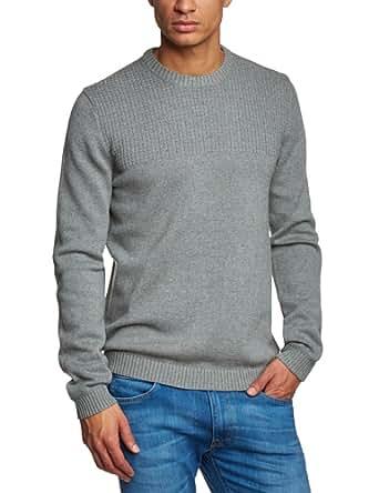 ESPRIT Herren Pullover Regular Fit 014EE2I008, Gr. 50 (L), Grau (070 MED. GREY MEL.)