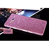 Heartly Sparking Bling Glitter Crystal Diamond Protective Film Whole Body Phone Skin Sticker For Samsung Galaxy A5 2015 SM-A500F - Cute Pink