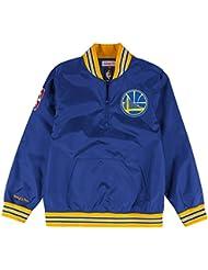 Golden State Warriors Mitchell & Ness NBA Men's Rebound 1/4 Zip Pullover Jacket Veste