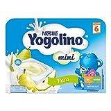 Nestlé Yogolino Postre lácteo Mini con Pera Para bebés a partir de 6 meses - Paquete de 6 tarrinas de postre lácteo de 60 gr