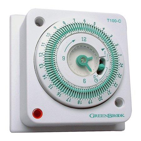 T100-C 24 Hour Mechanical Socket Box Timer by Greenbrook