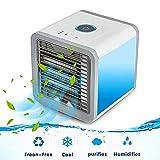 Arctic Air Space Kühler, tragbarer 3-in-1-USB-Ventilator, tragbar, Mini-Klimagerät, Luftbefeuchter, Luftreiniger mit 7 Farben, LED-Nacht, die schnelle und einfache Möglichkeit, jeden Raum zu kühlen.